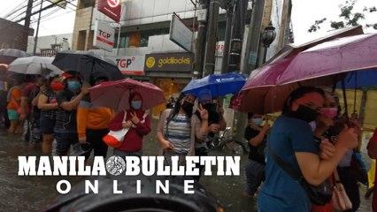 Vaccination in Manila continues despite heavy rains, flooding
