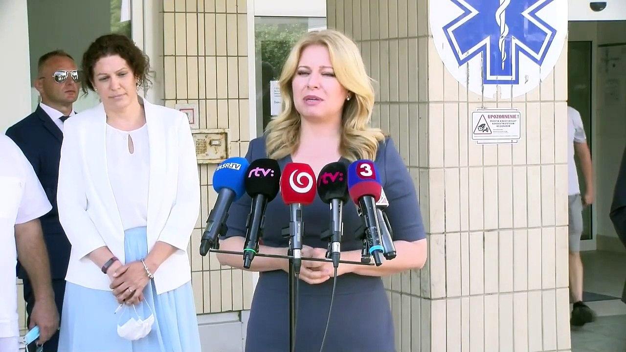 ZÁZNAM: Prezidentka Z. Čaputová navštívila Kliniku detskej psychiatrie