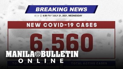 DOH reports 6,560 new cases, bringing the national total to 1,524,449, as of JULY 21, 2021