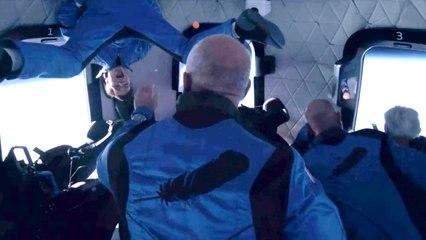 Jeff Bezos partage une vidéo incroyable de son voyage dans l'espace