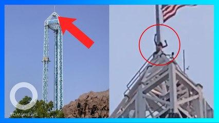 Pria California Memanjat Wahana Setinggi 91 Meter - TomoNews