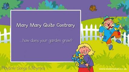 Kidzone - Mary Mary Quite Contrary