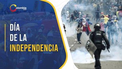 Hubo heridos y detenidos durante las manifestaciones del día de la independencia