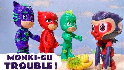 PJ Masks Toys Monki-Gu Toy Trouble with Catboy Owlette and Gekko in this PJ Masks Stop Motion Toy Episode with the Funny Funlings Full Episode English by Kid Friendly Family Channel Toy Trains 4U