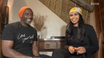 Idris Elba & Sabrina Elba Draw Each Other's Portraits