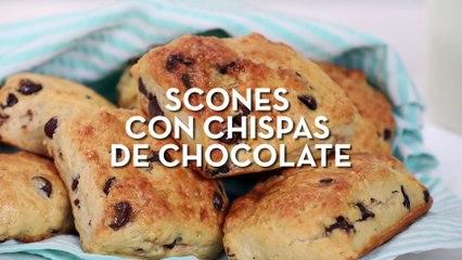 Prepara esta deliciosa receta de scones con chispas de chocolate  | Cocina Fácil