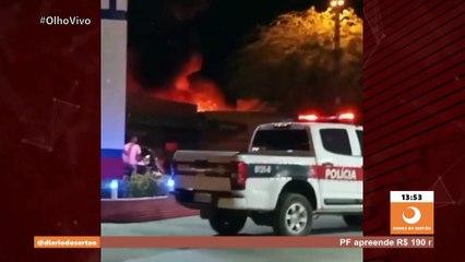Tenente do Corpo de Bombeiros dá detalhes do incêndio próximo a posto de combustível em Conceição