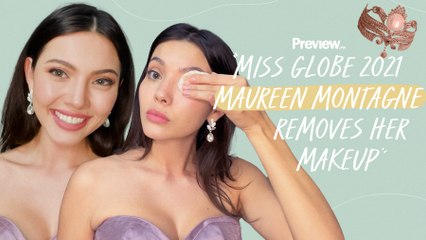 Miss Globe Philippines 2021 Maureen Montagne Removes Her Makeup   Barefaced Beauty   PREVIEW