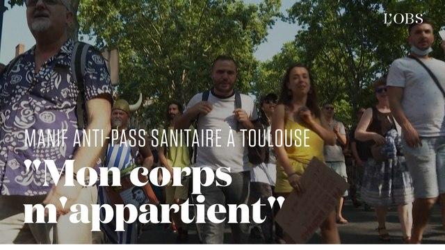 Les manifestants anti-pass sanitaire à Toulouse justifient leur opposition