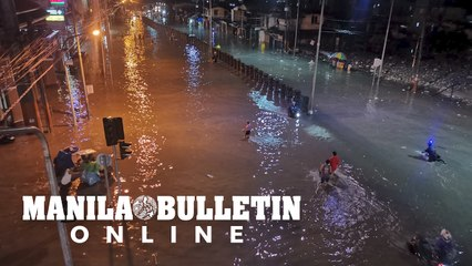 Alabang-Zapote road flooded due to heavy rains brought by Fabian