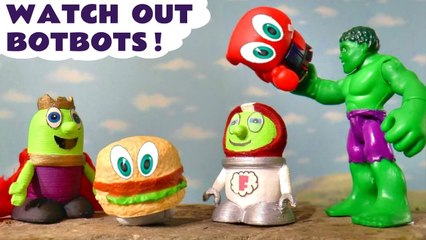Marvel Avengers Hulk Toy and the Funny Funlings have Bot Bot Trouble in this Family Friendly Stop Motion Toy Story Full Episode English Video for Kids from Kid Friendly Family Channel Toy Trains 4U