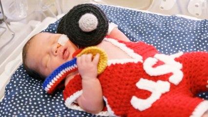 Recién nacidos se visten para los Juegos Olímpicos en el hospital de Kansas City