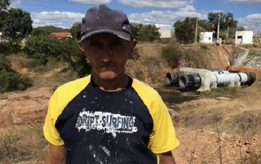 """Pescador desabafa após concerto de rompimento em São Gonçalo """"O açude ia se acabar e ficar seco"""""""
