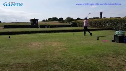 Chloe and Liam golf day
