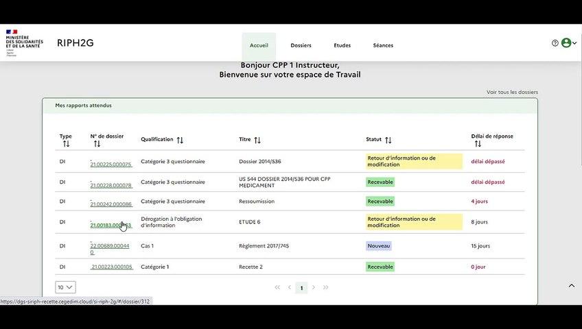 Vidéo de présentation de l'outil SIRIPH 2G - Profil instructeur CPP