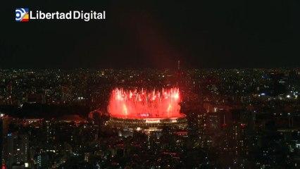 La ceremonia inaugural de los Juegos Olímpicos de Tokio vista desde las alturas