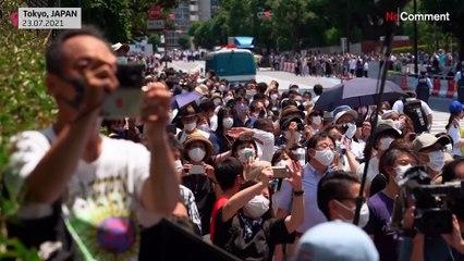 Tokio: Olympische Ringe in der Luft