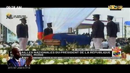 Funérailles Nationales du Président S.E.M. Jovenel Moise assassiné le 7 Juillet 2021