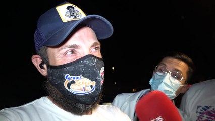 En las inmediaciones de Mediaset: Así ha celebrado Antonio David Flores el triunfo de Olga Moreno
