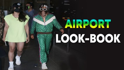 Ranveer Singh, Rashmika Mandanna slay the airport look