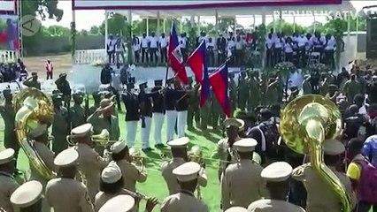 Suasana Pemakaman Presiden Haiti Jovenel Moise