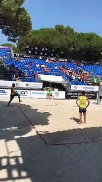 Le mondial de foot-volley s'installe à Juan-les-Pains
