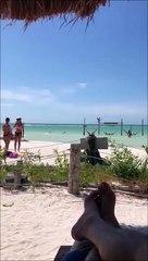 Messieurs, ne faites pas ça à la plage à côté de votre copine