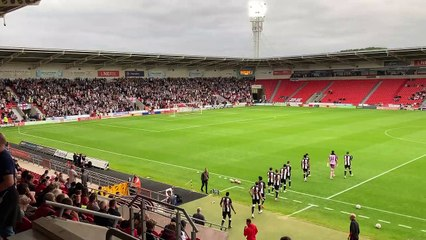 Newcastle United fans at Doncaster Rovers