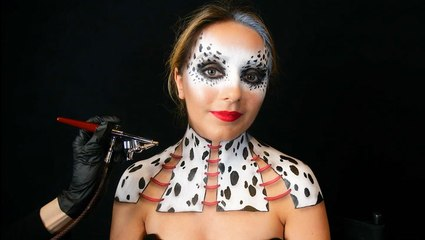 How this makeup artist creates a Cruella look with airbrush and paint