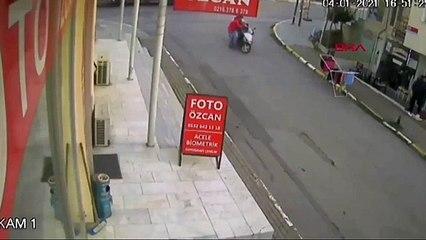 Kuyumcuyu dolandırmak isteyen kişiyi aksiyon filmi tadında yakalayan motorlu kurye