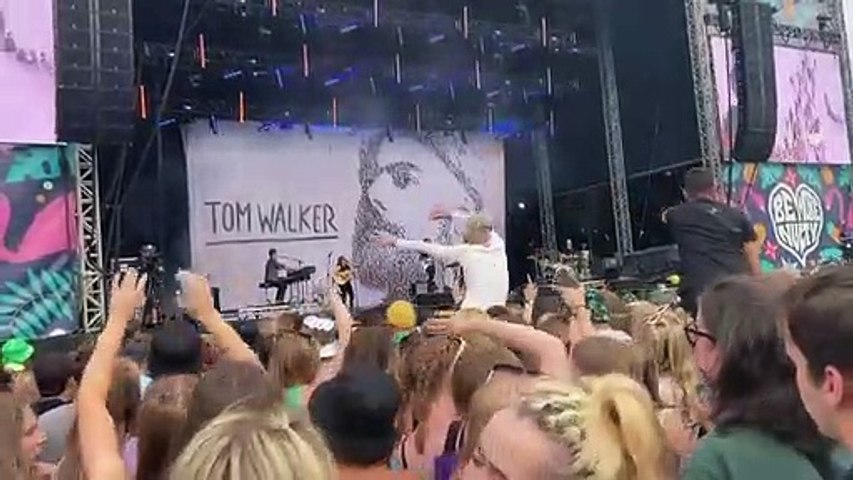Woman proves crowdsurfing is not just for teenagers