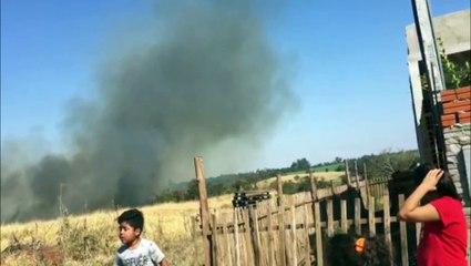 Grande incêndio ambiental é registrado por morador do Jardim Montreal; Bombeiros foram mobilizados