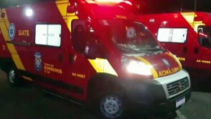 Ambulância do Siate e motocicleta se envolvem em colisão no Centro
