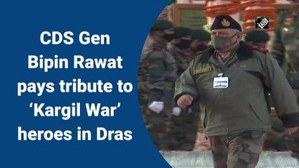 CDS Gen Bipin Rawat pays tribute to 'Kargil War' heroes in Dras