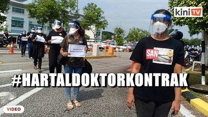 #HartalDoktorKontrak berlangsung serentak seluruh negara