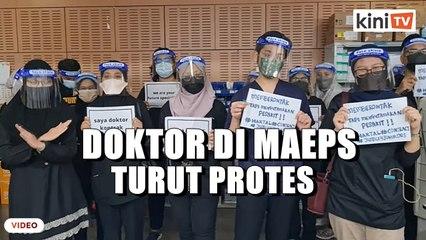 Doktor kontrak di MAEPS turut sertai protes, polis arah batal