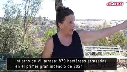 Infierno de Villarrasa: 870 hectáreas arrasadas en el primer gran incendio de 2021