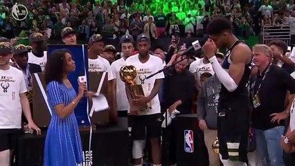 Giannis Antetokounmpo Wins Finals MVP Award - 2021 NBA Champions