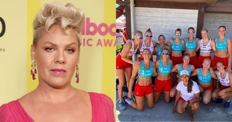 Pink propose de payer les amendes de l'équipe norvégienne de handball de plage, sanctionnée pour avoir porté des shorts