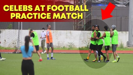 Ranveer Singh, MS Dhoni and others play football practice match