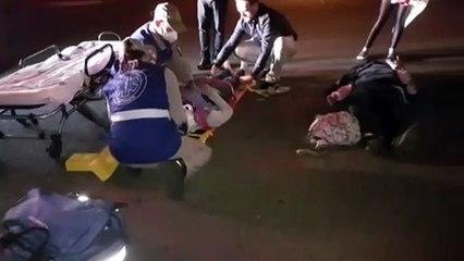 Jovens ficam feridos após colisão entre moto e BMW na Rua Fortaleza