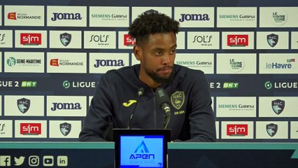 Après HAC - Guingamp (0-0), réactions de Nolan Mbemba