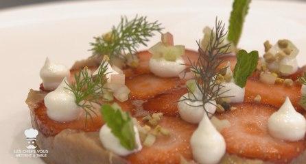 Les chefs vous mettent à table (épisode 12) : Tartelette fine fraise rhubarbe