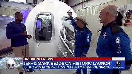 Jeff Bezos, brother talk Blue Origin launch l GMA.
