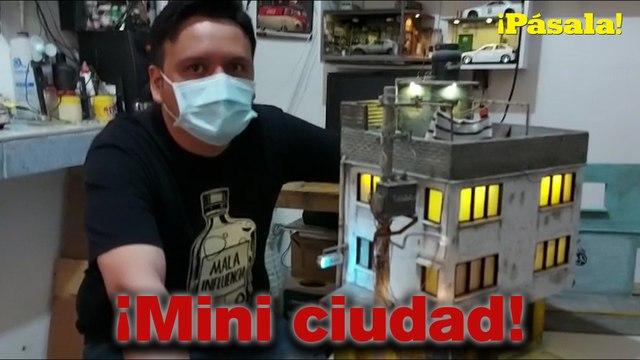 ¡Fernando Rojas crea barrios de la CDMX en chiquito!