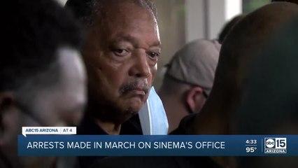 Rev. Jesse Jackson among those arrested during protest outside Sen. Sinema's office