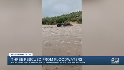 Three rescued from Arizona floodwaters