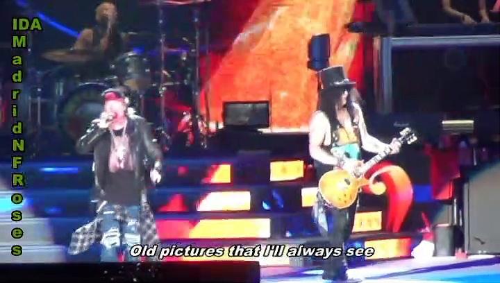 """Yesterdays"" Live Mix w/lyrics Guns N' Roses."