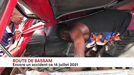 Route de Bassam : encore un accident ce 14 juillet