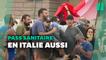 Contre le pass sanitaire, les Italiens manifestent à Rome